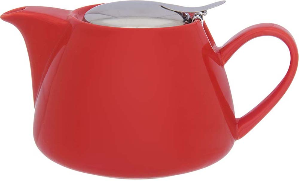 Чайник заварочный Elan Gallery, с ситом, цвет: красный, 750 мл цена