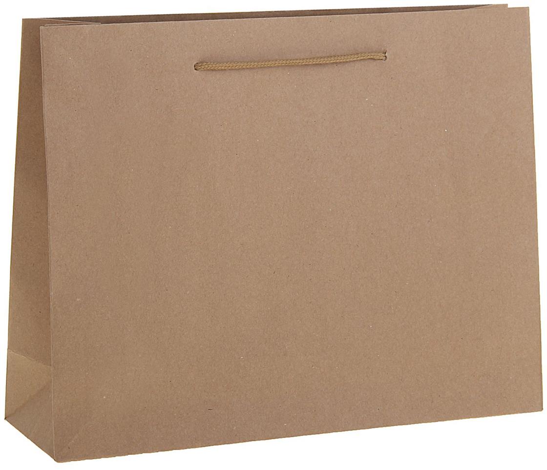 цена на Пакет подарочный, цвет: коричневый, 50 х 12 х 38 см. 1255163