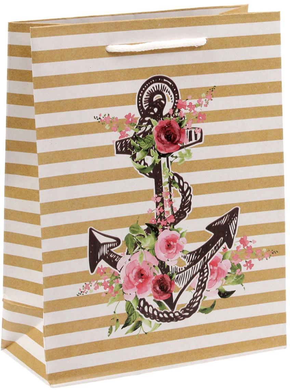 Пакет подарочный Дарите Счастье Поздравляю!, цвет: мультиколор, 18 х 8 х 23 см. 1499517 пакет подарочный дарите счастье пасхальные угощения цвет мультиколор 12 х 7 х 19 см 2678803
