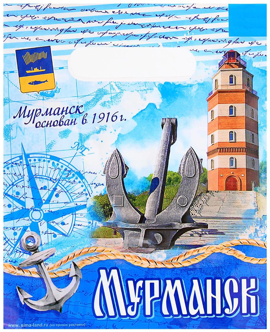 Пакет подарочный Мурманск, цвет: мультиколор, 17 х 20 см. 1700598