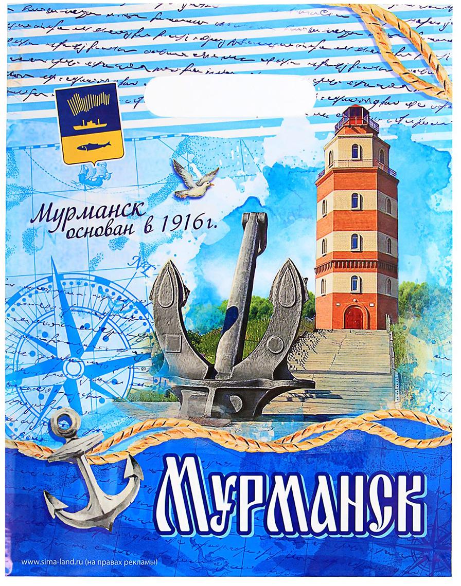 Пакет подарочный Мурманск, цвет: мультиколор, 23 х 29,5 см. 1700619