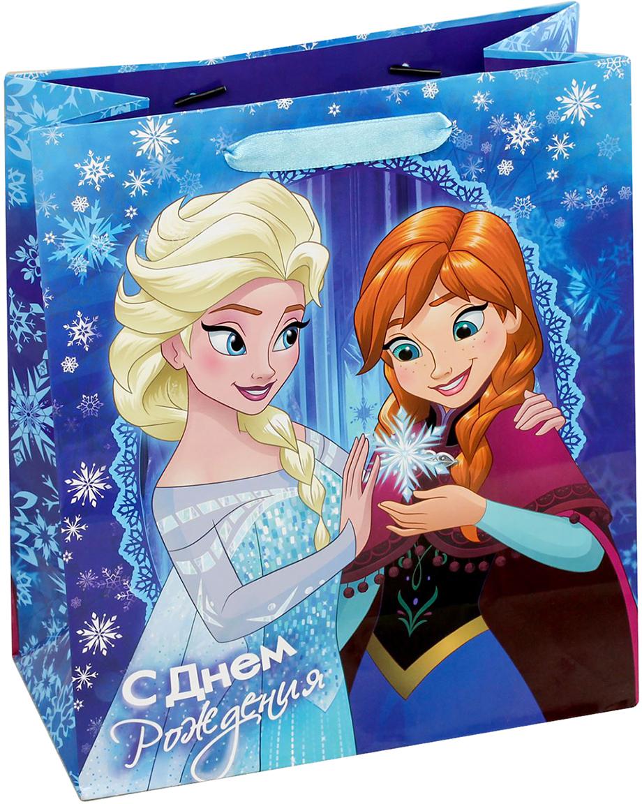 """Пакет подарочный Disney """"Холодное сердце. Самый лучший подарок!"""", цвет: мультиколор, 31 х 11 х 40 см. 1931183"""