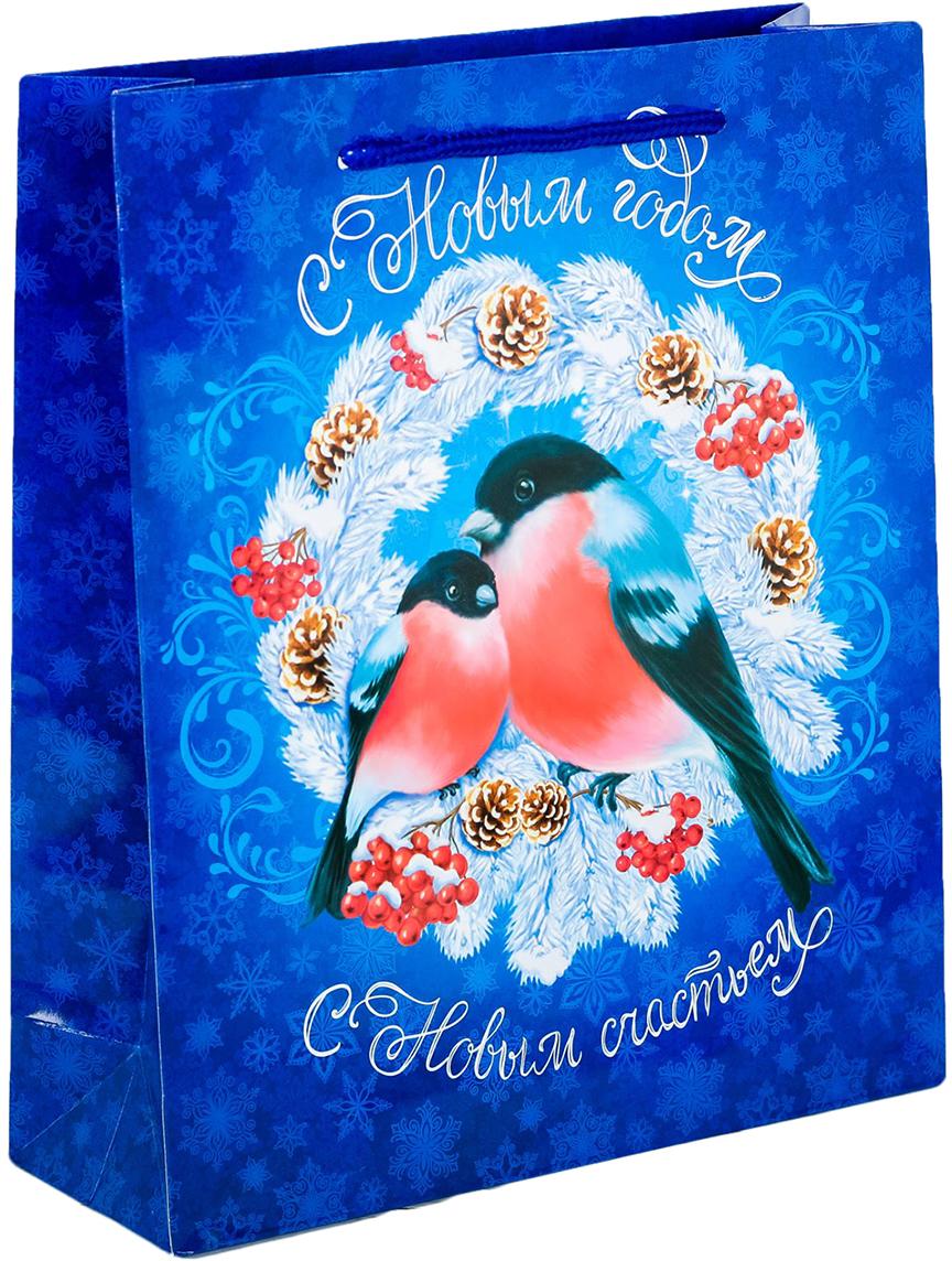 Пакет подарочный Дарите Счастье Морозное счастье, цвет: мультиколор, 11 х 5 х 14 см. 2113863 пакет подарочный яркий цветок цвет мультиколор 11 х 5 5 х 14 5 см 2687174