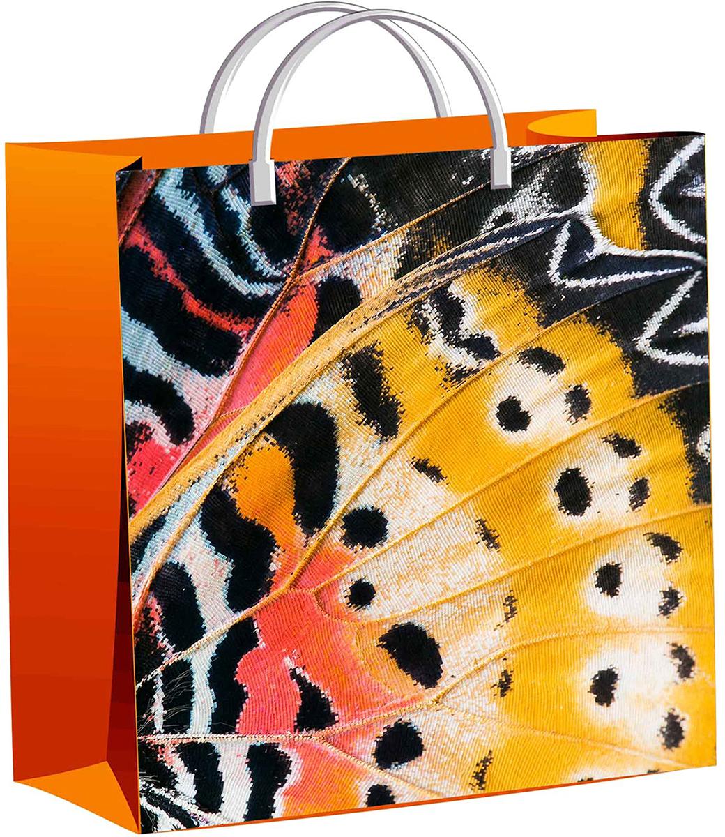 Пакет подарочный ТикоПластик Крыло бабочки, цвет: оранжевый, 30 х 30 см. 2327383 пакет подарочный тикопластик русский сад цвет мультиколор 30 х 30 см 2250551