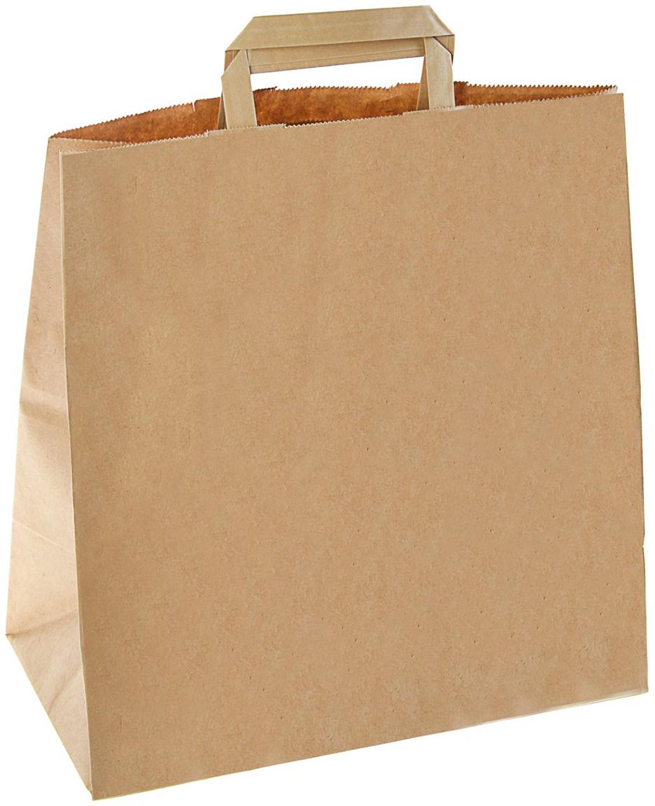Пакет подарочный, цвет: коричневый, 32 х 17 х 32,5 см. 2522126
