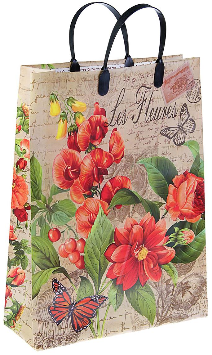 Пакет подарочный Интерпак Парижанка, цвет: мультиколор, 30 х 40 см. 2564340 пакет подарочный тикопластик русский сад цвет мультиколор 30 х 30 см 2250551