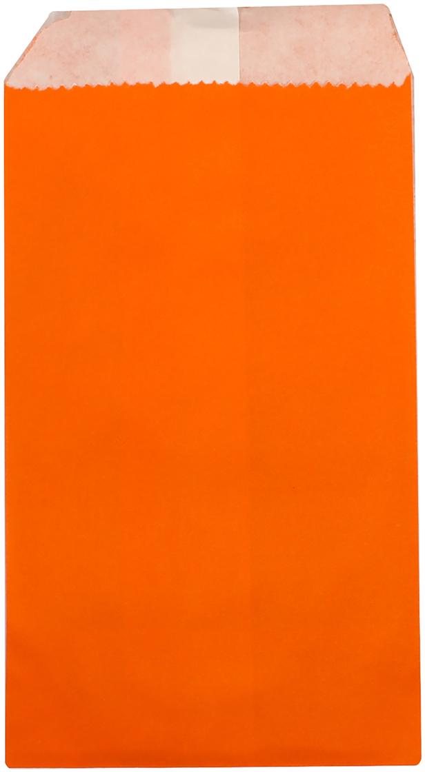 Пакет подарочный, цвет: оранжевый, 8 х 15 х 3 см. 2654313