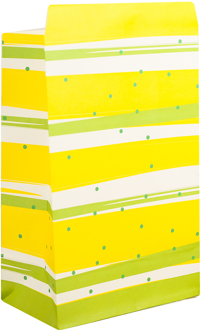 Пакет подарочный, цвет: желтый, 20 х 13 х 7,5 см. 2654339