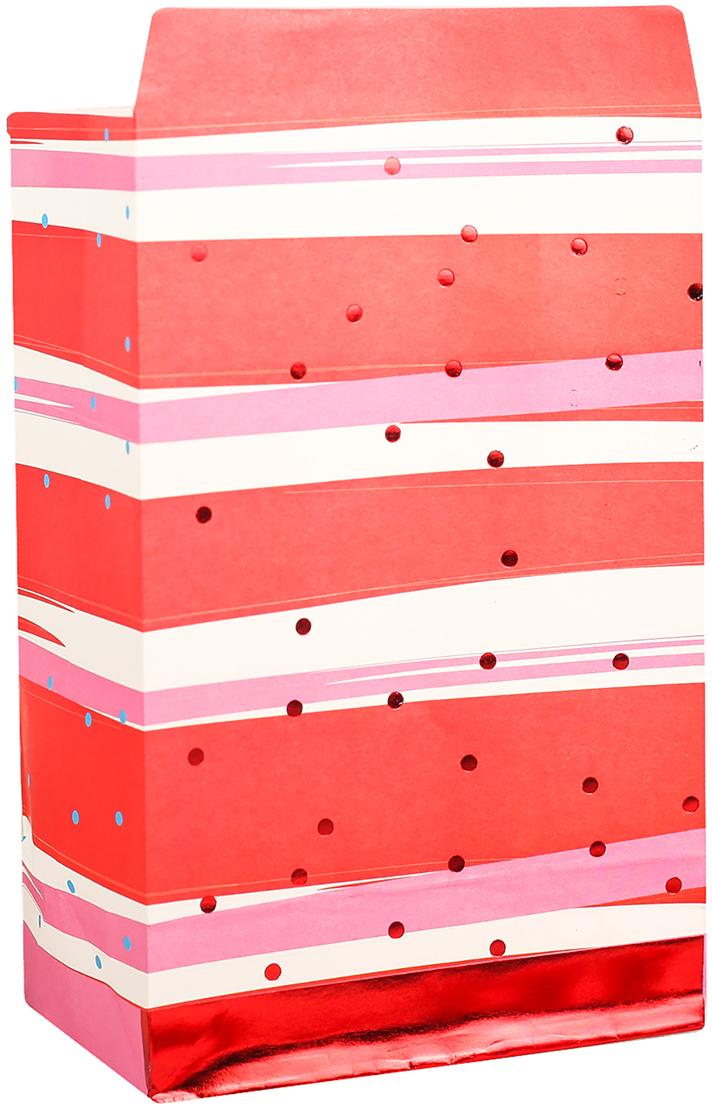 Пакет подарочный, цвет: красный, 20 х 13 х 7,5 см. 2654342