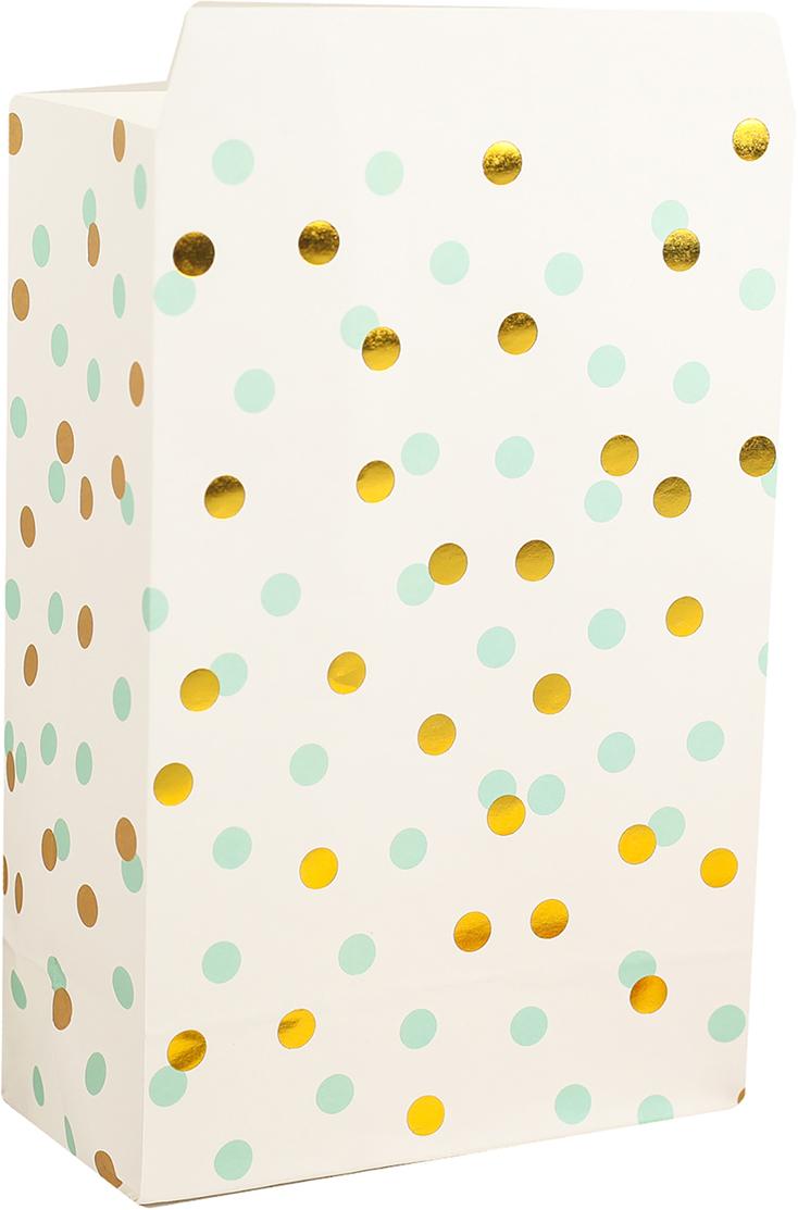 Пакет подарочный, цвет: белый, 20 х 13 х 7,5 см. 2654345