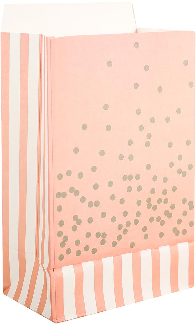 Пакет подарочный, цвет: розовый, 20 х 13 х 7,5 см. 2654347