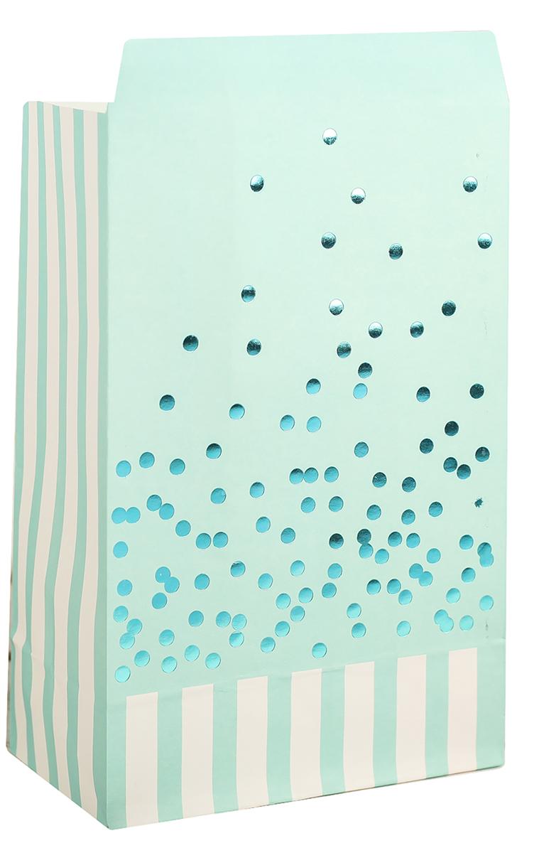 Пакет подарочный, цвет: голубой, 20 х 13 х 7,5 см. 2654348