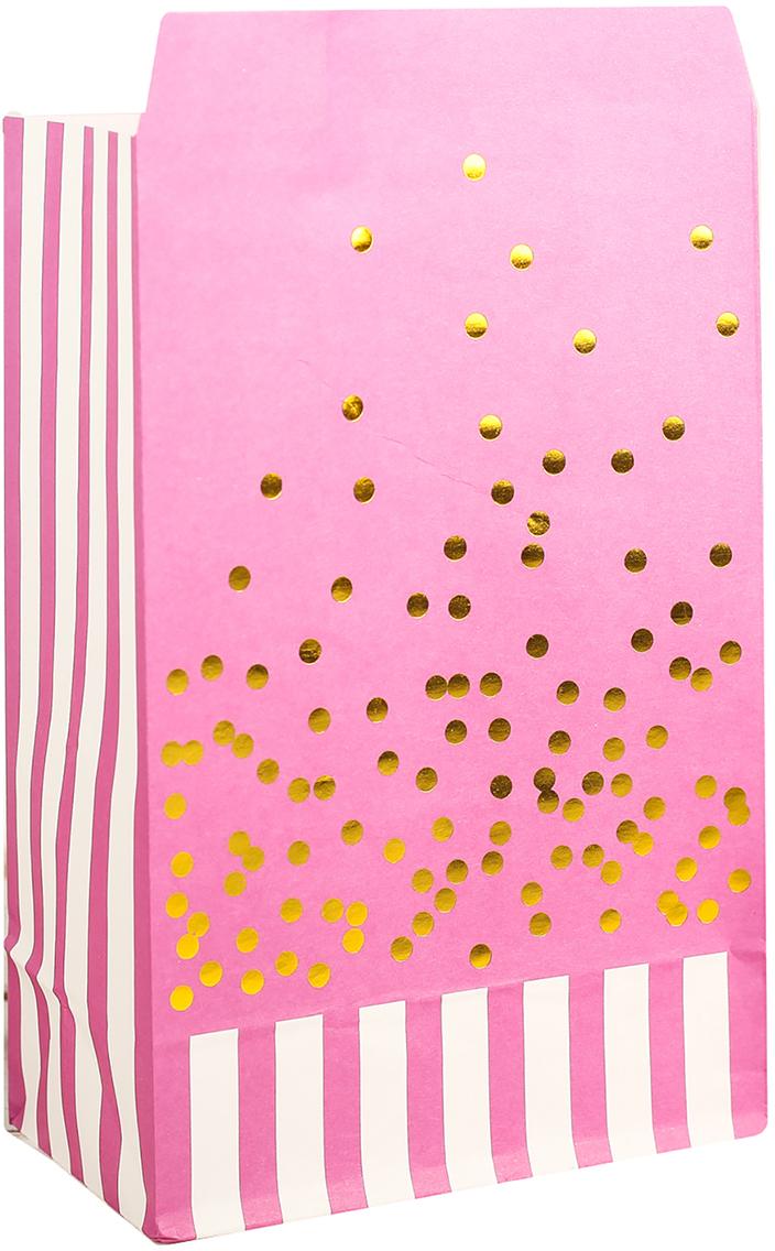 Пакет подарочный, цвет: розовый, 20 х 13 х 7,5 см. 2654349
