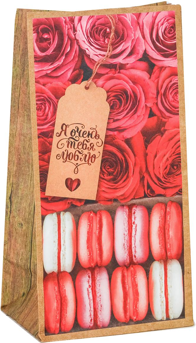Пакет подарочный Дарите Счастье Я тебя люблю!, цвет: розовый, 10 х 19,3 х 7 см. 2678922 буркова мария олеговна эпитафия романтизму или недарите даме камелий