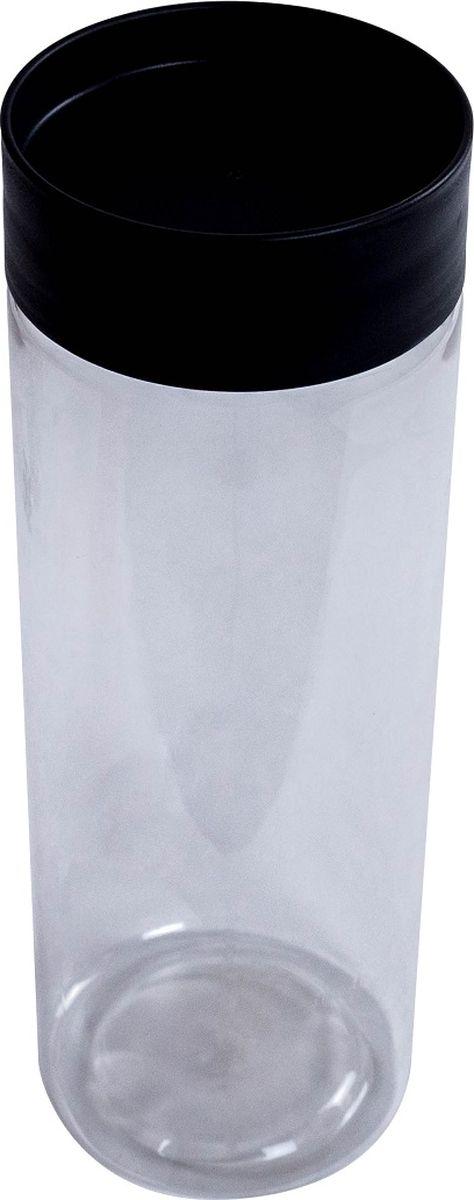 Банка для сыпучих продуктов Plast Team, цвет: графит, 1,5 л емкость для хранения продуктов plast team pattern 0 8 л