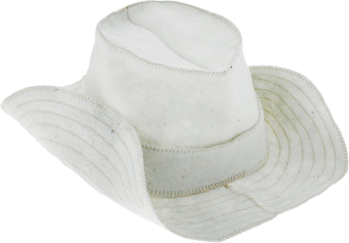 Шапка для бани и сауны Ecology Sauna Ковбой, цвет: белый печь для бани и сауны теплодар русь 18 л профи