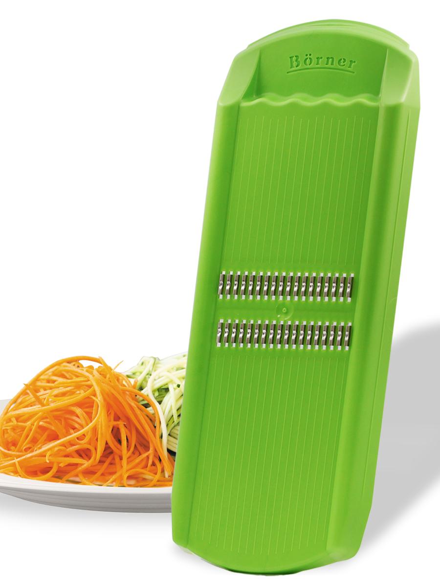 судок для овощерезок и тёрок borner моделей классика и тренд цвет сиреневый Овощерезка Borner Роко (корейская морковь) модель Тренд, цвет: салатовый
