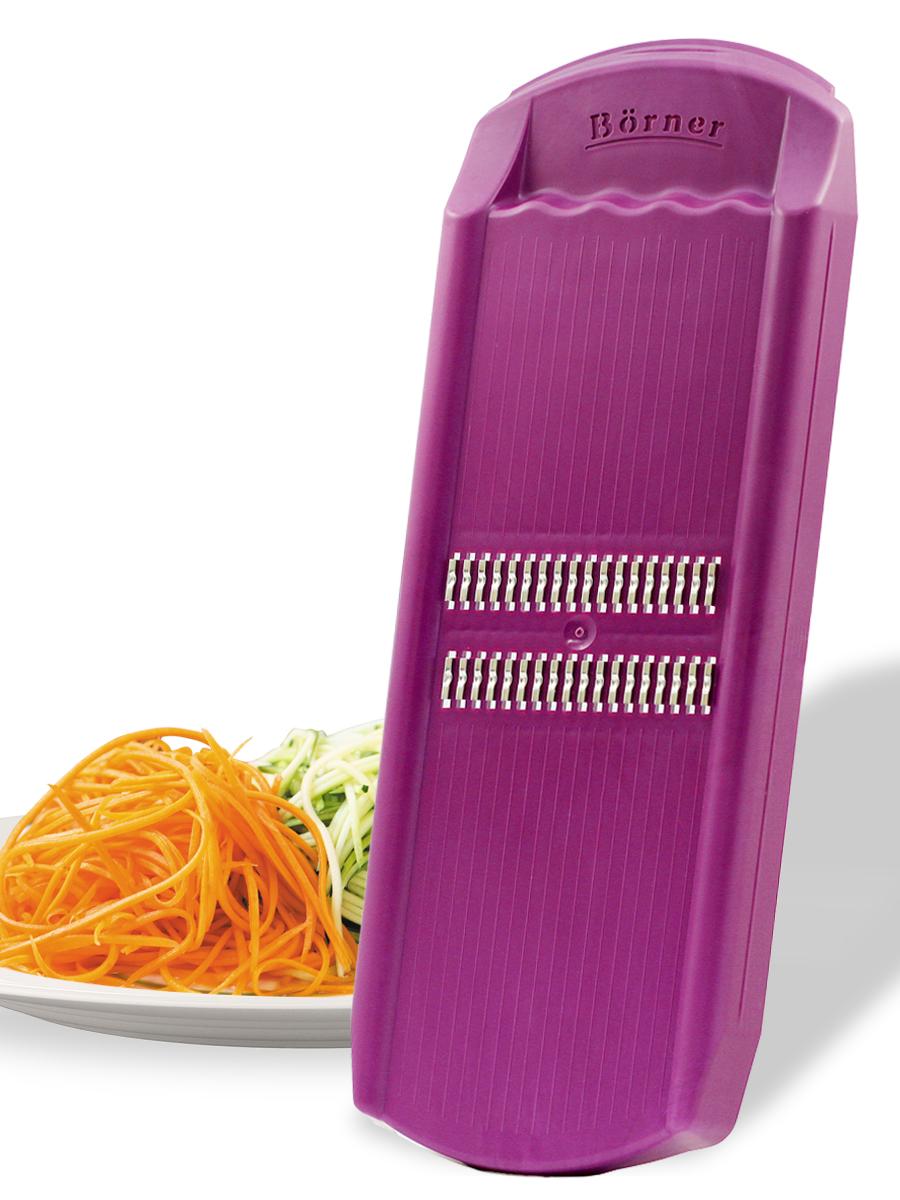 судок для овощерезок и тёрок borner моделей классика и тренд цвет сиреневый Овощерезка Borner Роко (корейская морковь) модель Тренд, цвет: сиреневый