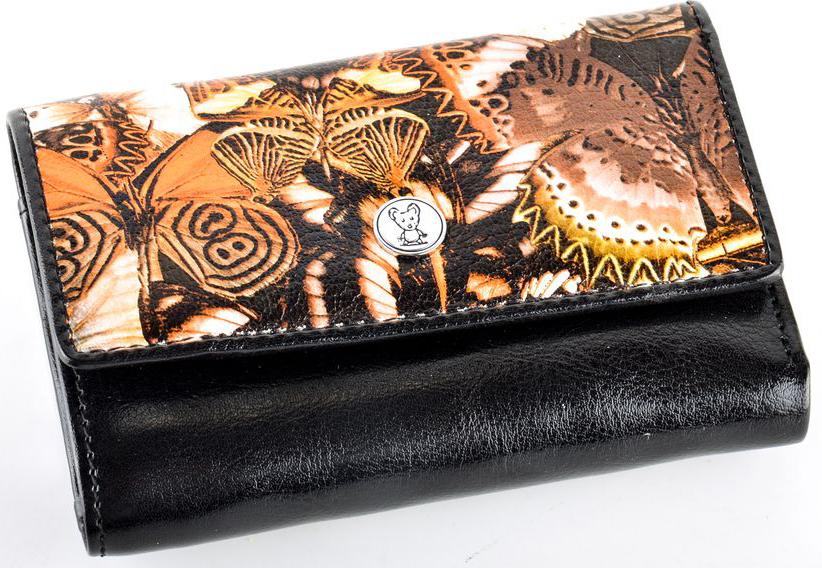 Кошелек женский Topo Fortunato Бабочки, цвет: черный. 5337-001 цена