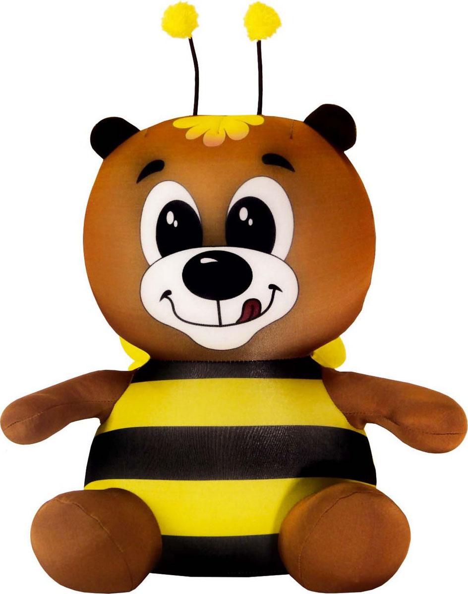 Подушка-игрушка Штучки, к которым тянутся ручки антистрессовая Медведь ЖУ ЖУ, коричневый