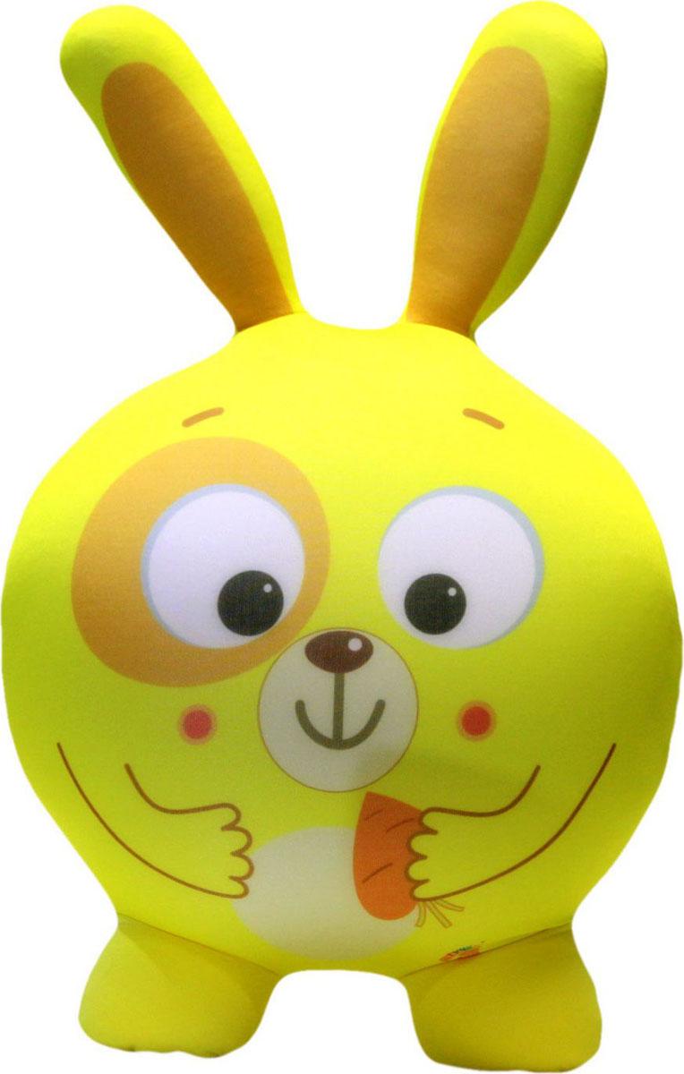 """Подушка-игрушка антистрессовая Штучки, к которым тянутся ручки """"Круглые звери. Заяц"""". 14аси23ив-1"""