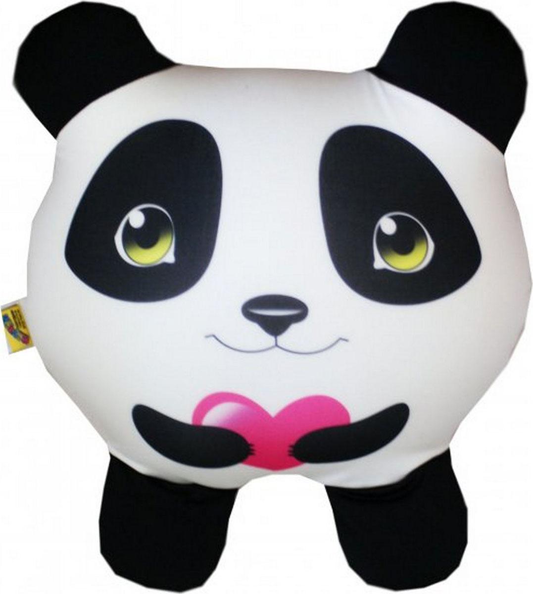 """Подушка-игрушка антистрессовая Штучки, к которым тянутся ручки """"Круглые звери. Панда"""". 14аси23ив-2"""
