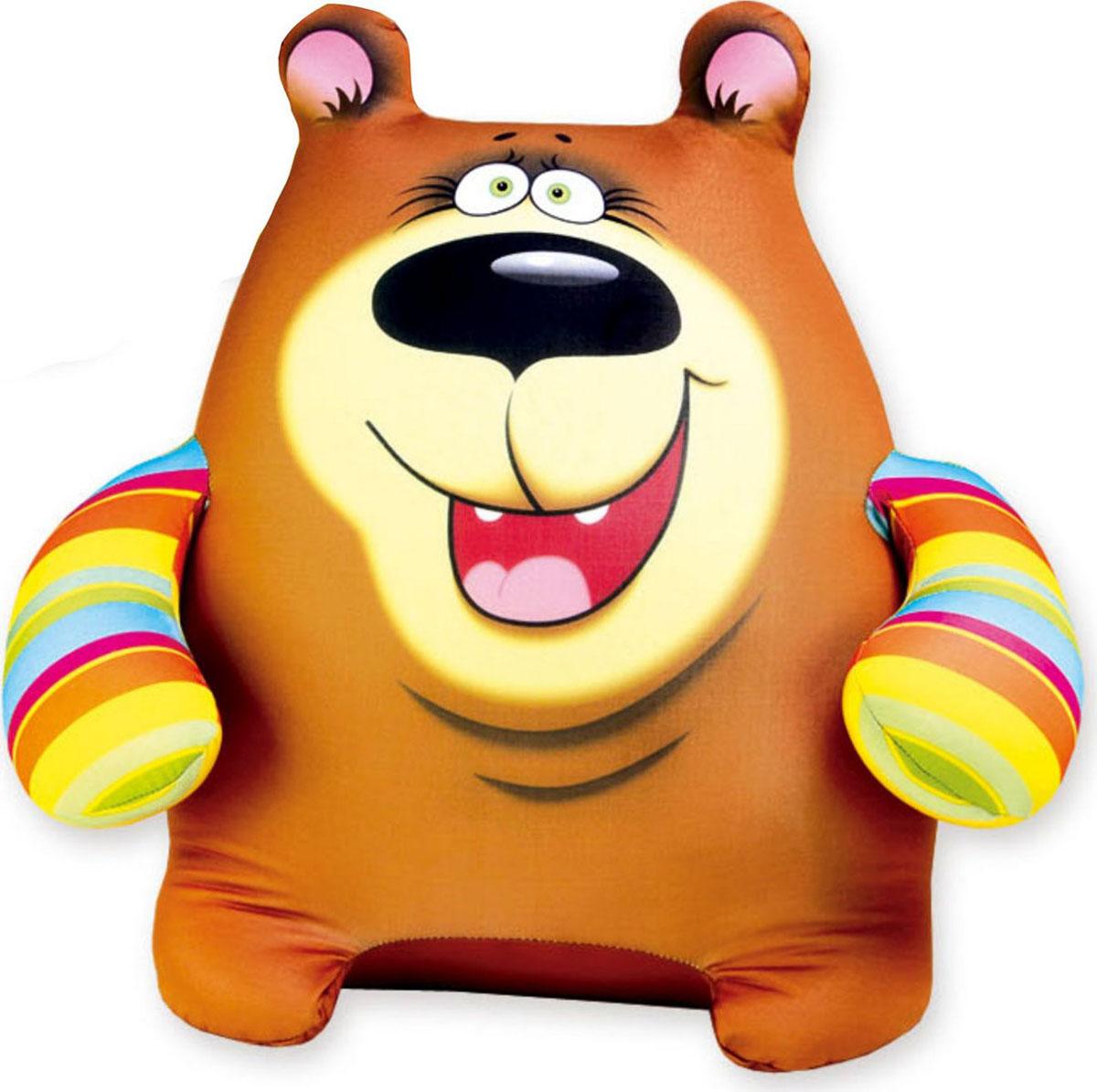 Подушка-игрушка антистрессовая Медведь Тим