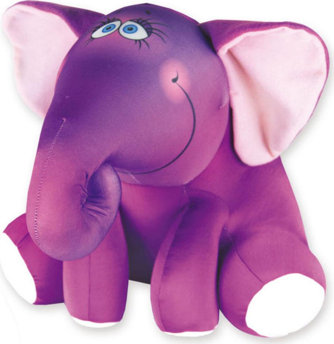 Подушка-игрушка Штучки, к которым тянутся ручки антистрессовая Слон Ким, фиолетовый