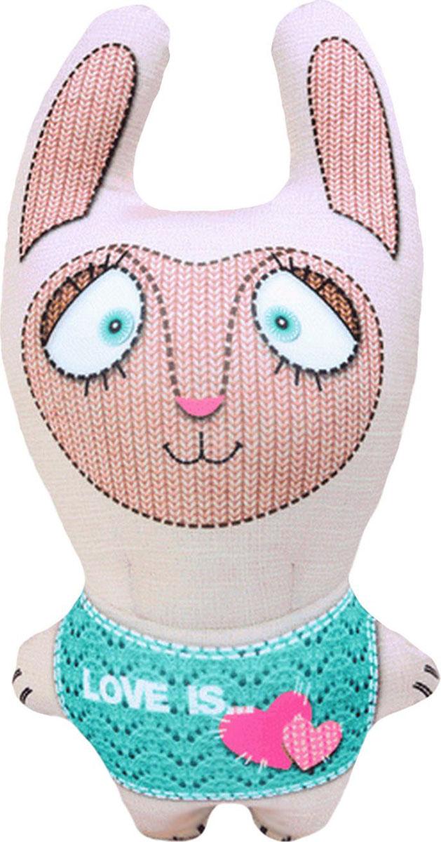 Подушка-игрушка антистрессовая Звери вязаные. Заяц