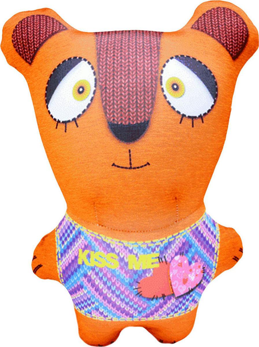 Подушка-игрушка Штучки, к которым тянутся ручки антистрессовая Звери вязаные. Медведь