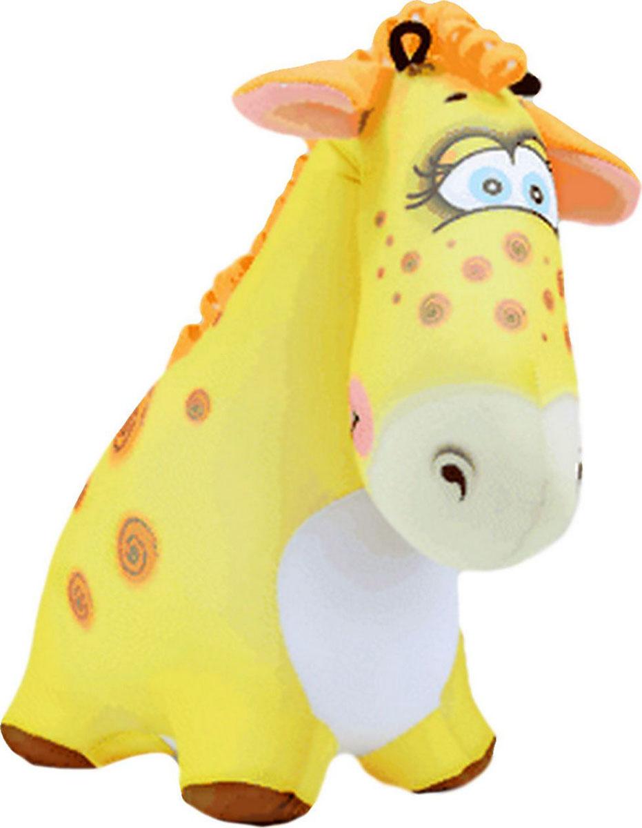 Подушка-игрушка Штучки, к которым тянутся ручки антистрессовая Жираф Жужа, желтый