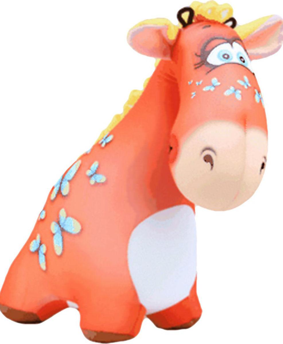 Подушка-игрушка Штучки, к которым тянутся ручки антистрессовая Жираф Жужа, оранжевый