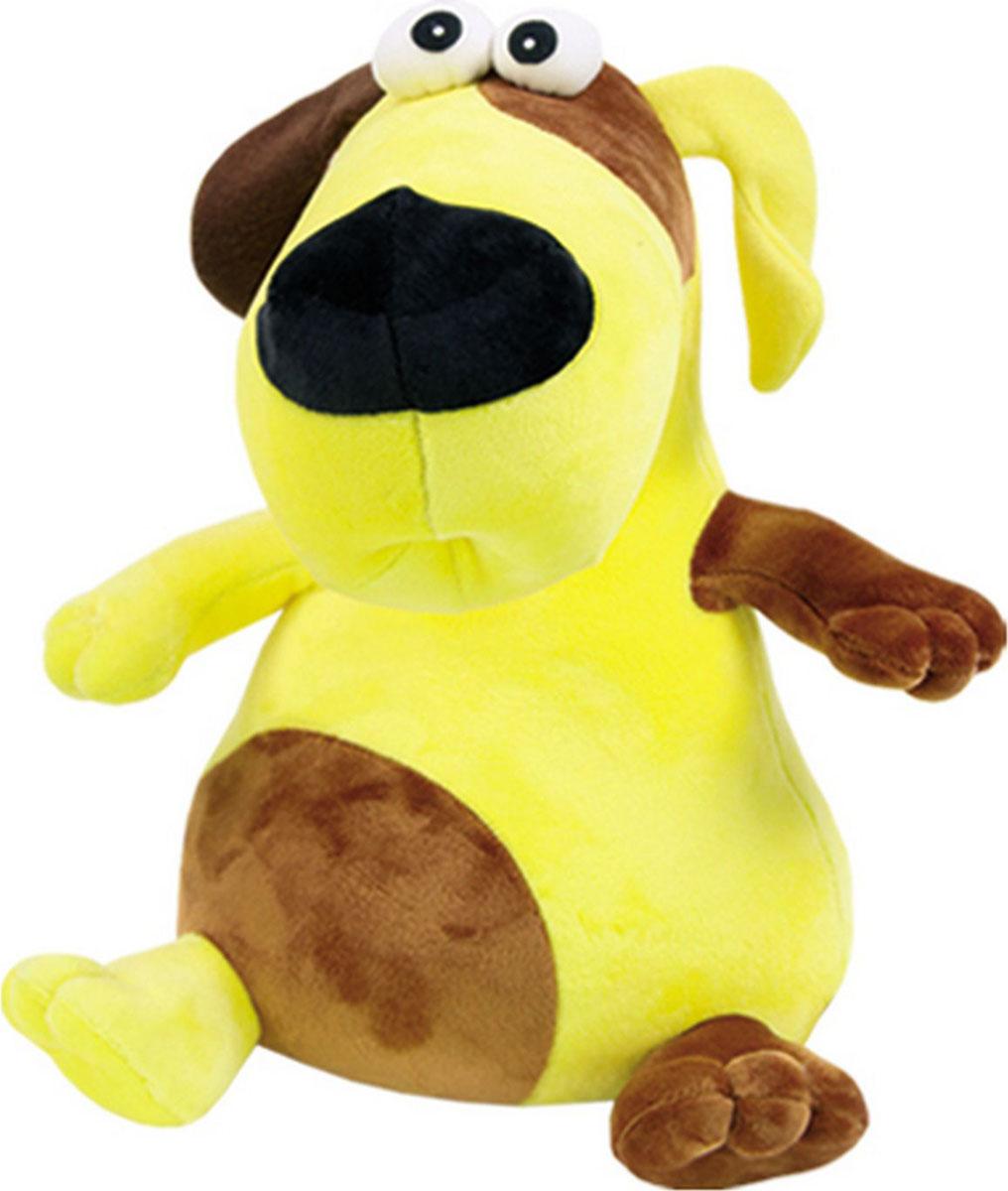 Подушка-игрушка Штучки, к которым тянутся ручки антистрессовая Пучеглаз Собака, желтый