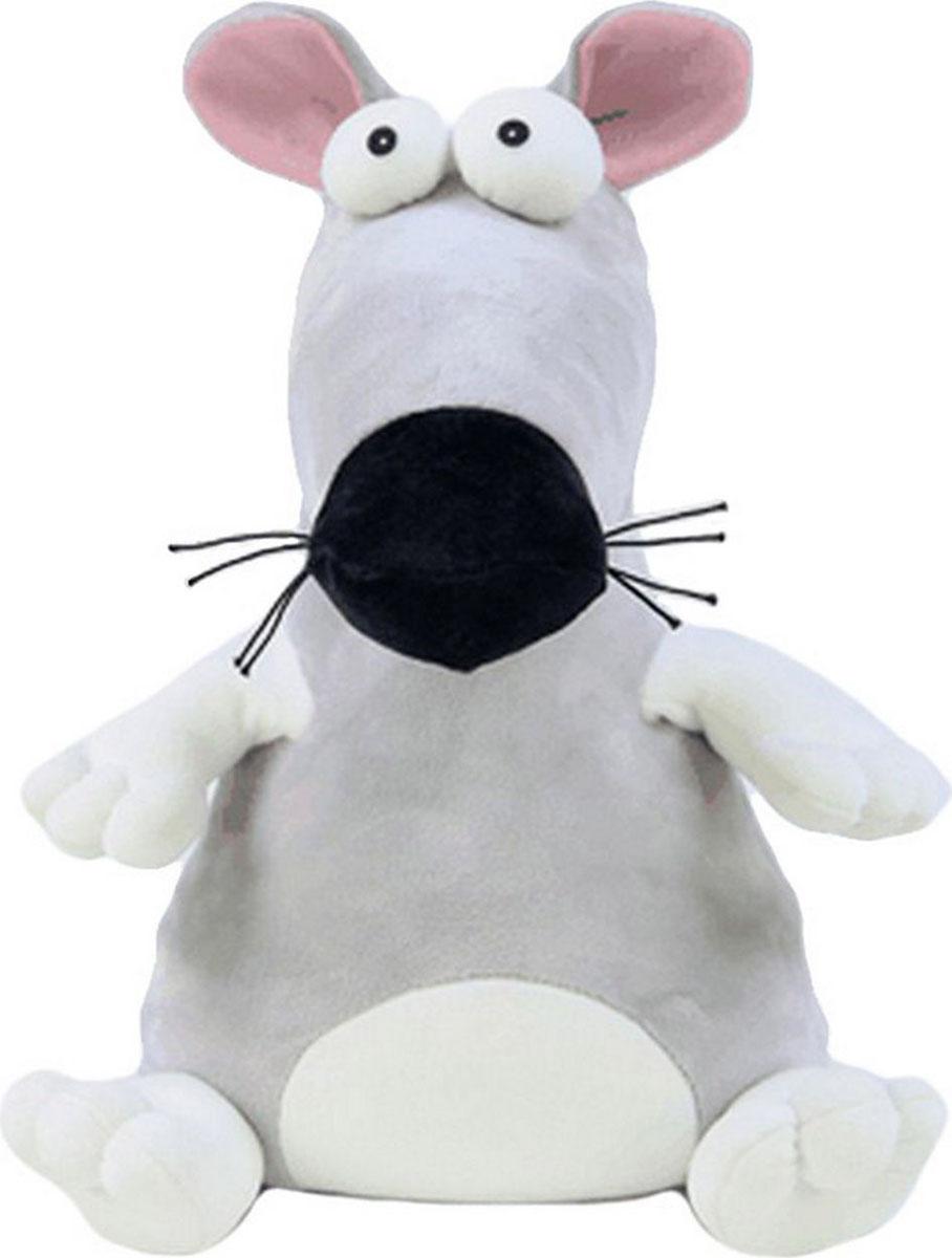 Подушка-игрушка антистрессовая Пучеглаз. Крыса, серый
