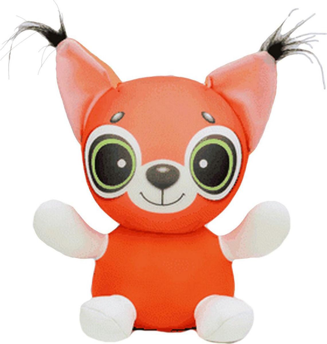 Подушка-игрушка Штучки, к которым тянутся ручки антистрессовая Анимашки. Бельчонок, оранжевый
