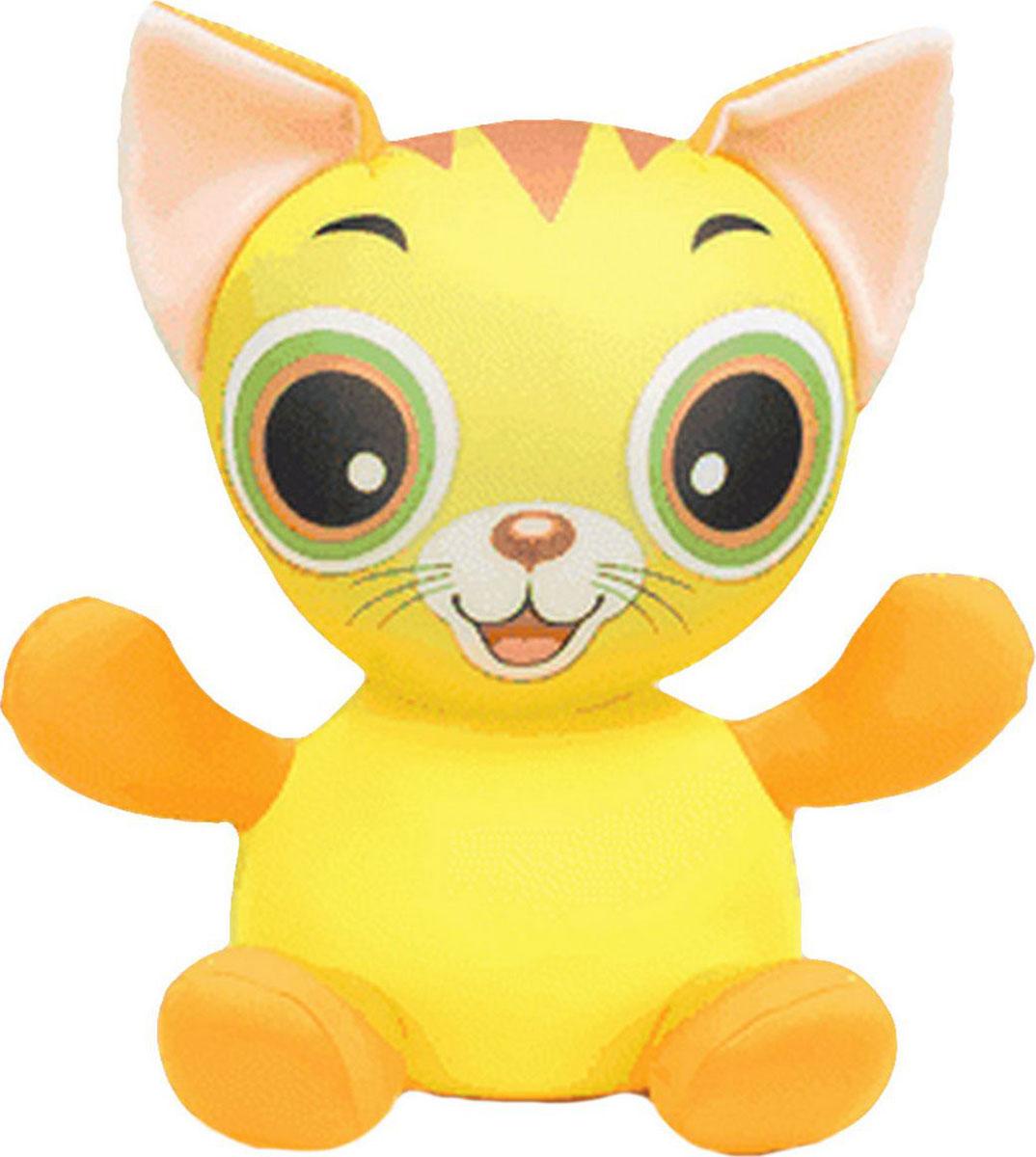 Подушка-игрушка Штучки, к которым тянутся ручки антистрессовая Анимашки. Котенок, желтый