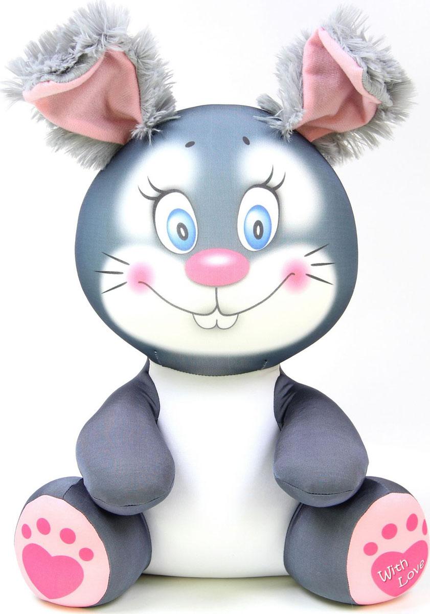 Подушка-игрушка антистрессовая Лапуши. Кролик