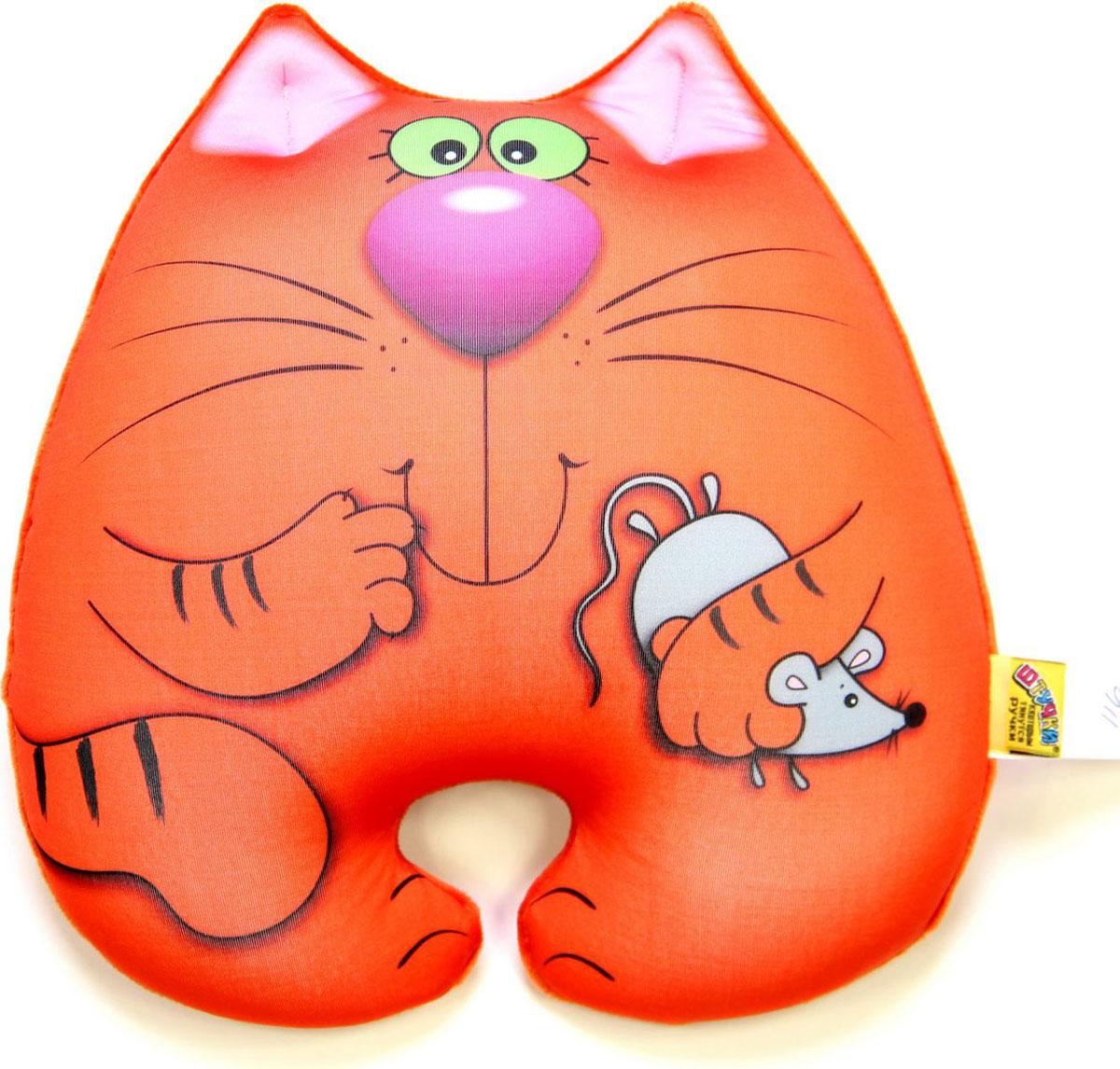 """Подушка-игрушка антистрессовая Штучки, к которым тянутся ручки """"Кот Мышкин"""". 15аси22ив-1"""