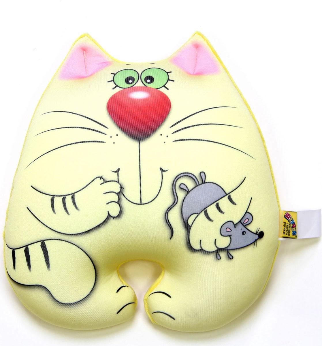 """Подушка-игрушка антистрессовая Штучки, к которым тянутся ручки """"Кот Мышкин"""". 15аси22ив-2"""