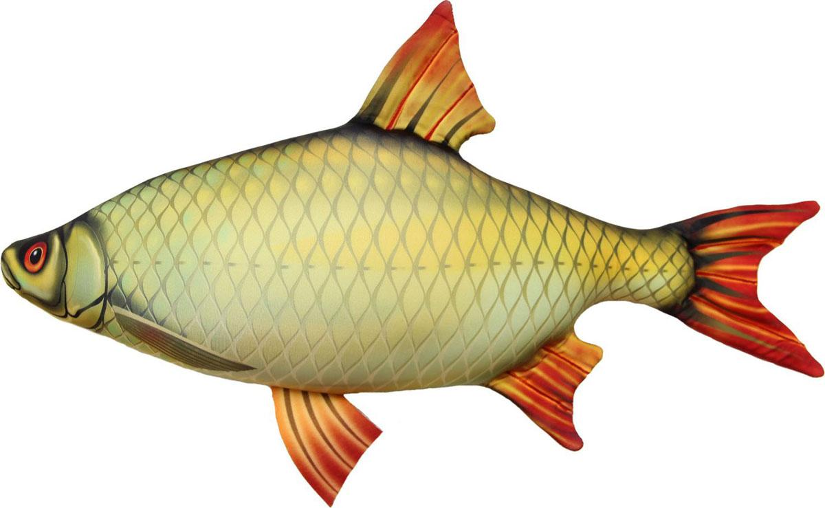 Подушка-игрушка Штучки, к которым тянутся ручки Антистрессовая Рыба Краснопёрка мал.