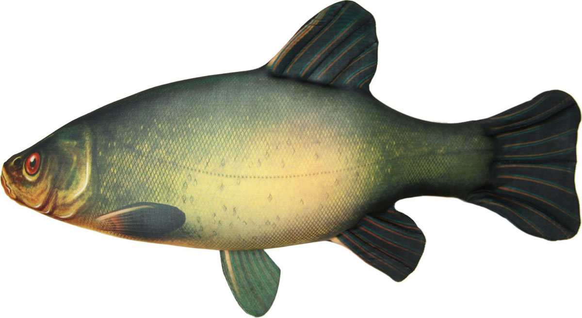 Подушка-игрушка Антистрессовая Рыба Линь большая