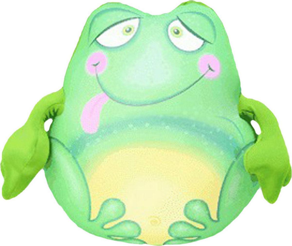 Подушка-игрушка антистрессовая Лягушонок Пончо, зеленый