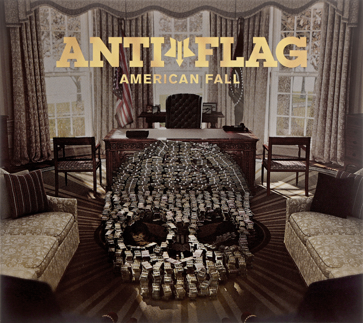Фото - Anti-Flag Anti-Flag. American Fall round neck american flag print tank top
