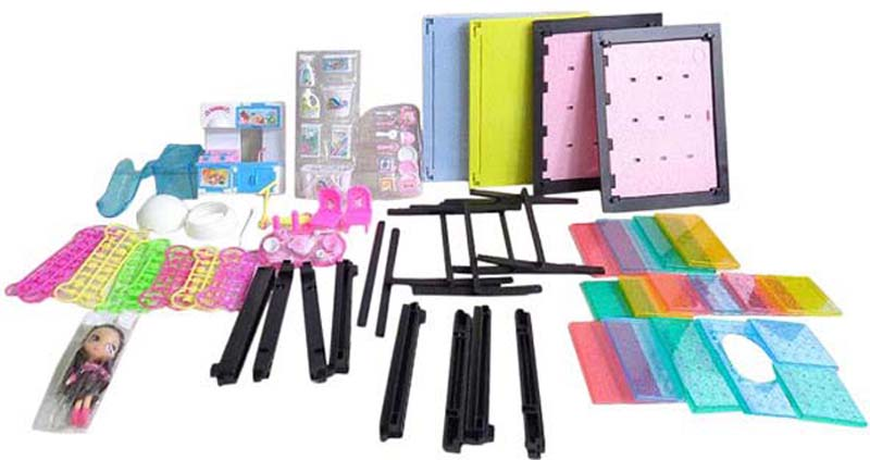 ABtoys Игровой набор с куклой Модный дом Кухня и прачечная 84 детали аксессуары для кухни wmf