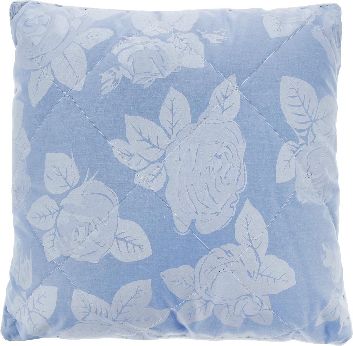 Подушка Bio-Teхtiles Очарование, наполнитель: искусственный лебяжий пух, цвет: голубой, 40 х 40 см