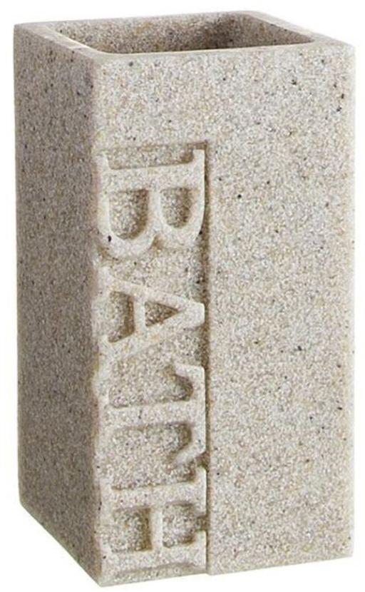 Стакан для зубных щеток DCasa Arena Bath, цвет: бежевый268492Оригинальный стакан для зубных щеток имитирует изделие из камня и придаст изюминку вашей ванной. Аксессуар выполнен из керамики - натурального, экологичного и вместе с тем безопасного материала для ванных принадлежностей. Даже если стакан разобьется, керамическими осколками почти невозможно пораниться, в отличие от стеклянных. А убрать их гораздо легче. Вместе с тем, керамический стакан тяжелее и устойчивее, чем пластиковый, легко очищается, не царапается, не теряет внешний вид. И приятнее в использовании, как все натуральные материалы.