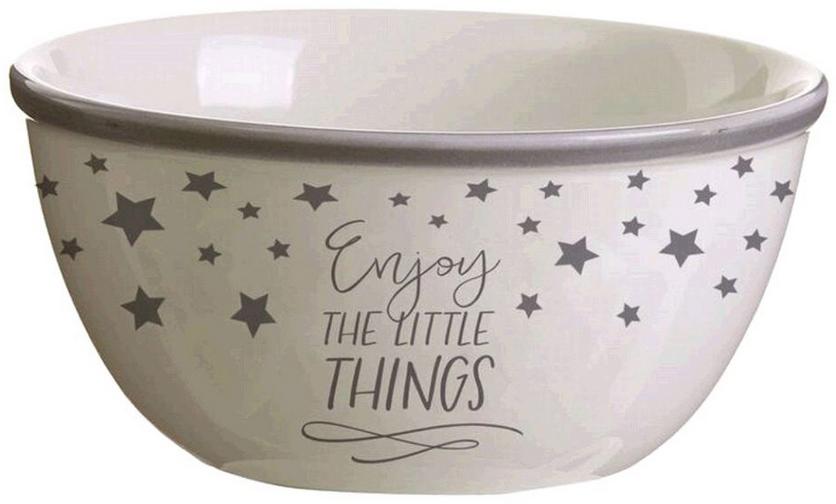 """Салатник D'Casa """"Little Things"""", цвет: белый, серый"""
