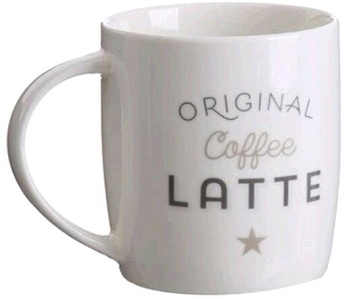 Кружка D'Casa Bistro Latte, цвет: белый, 350 мл кружка d casa chic цвет белый 350 мл