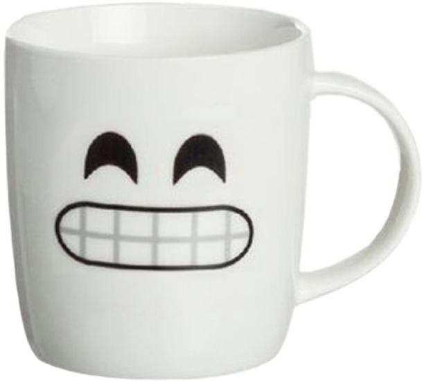 Кружка D'Casa Emoji Smile, 350 мл, белый кружка d casa chic цвет белый 350 мл