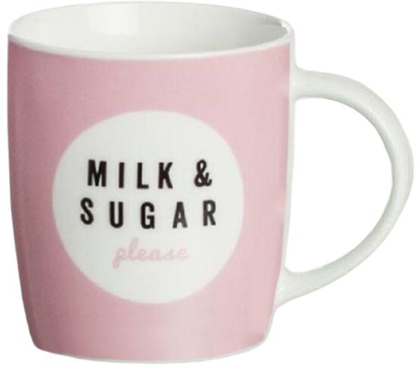 Кружка D'Casa Milk & Sugar, цвет: розовый, 350 мл кружка d casa chic цвет белый 350 мл